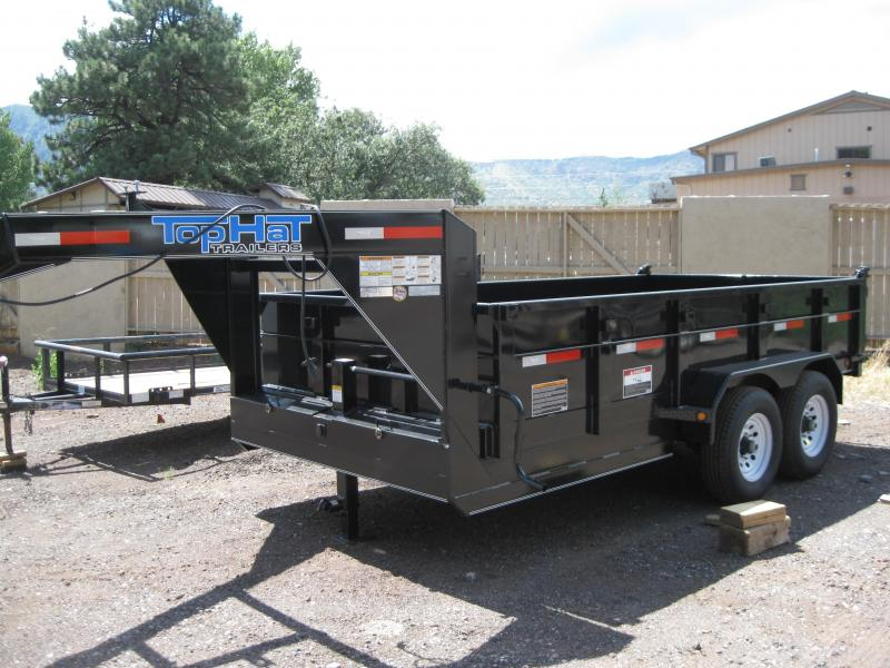 7' X 16' 14000 lb G.V.W. Gooseneck Dump Trailer in Ashburn, VA