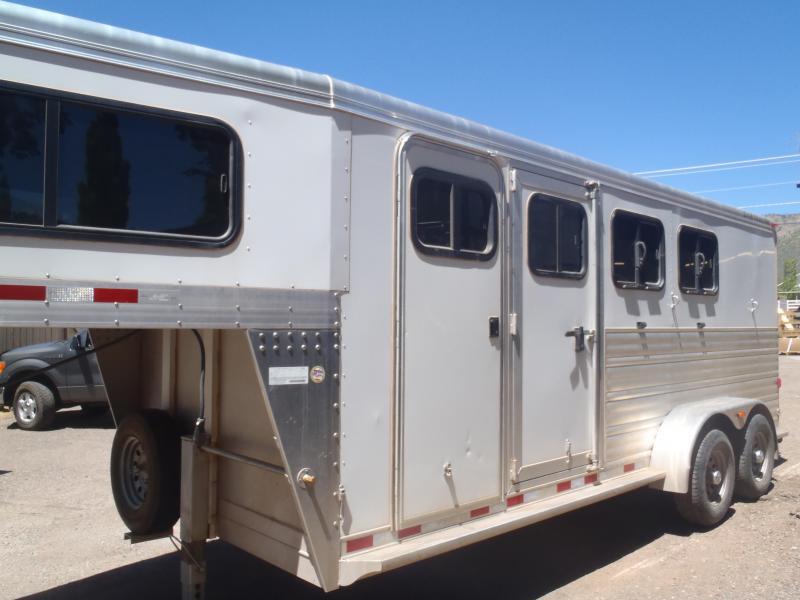 2013 S and H 3 Horse slant Gooseneck Horse Trailer