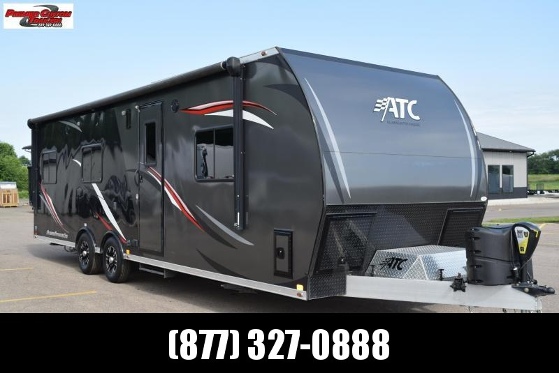 USED 2016 ATC 8.5x28 ALL ALUMINUM TOY HAULER w/ FRONT BEDROOM