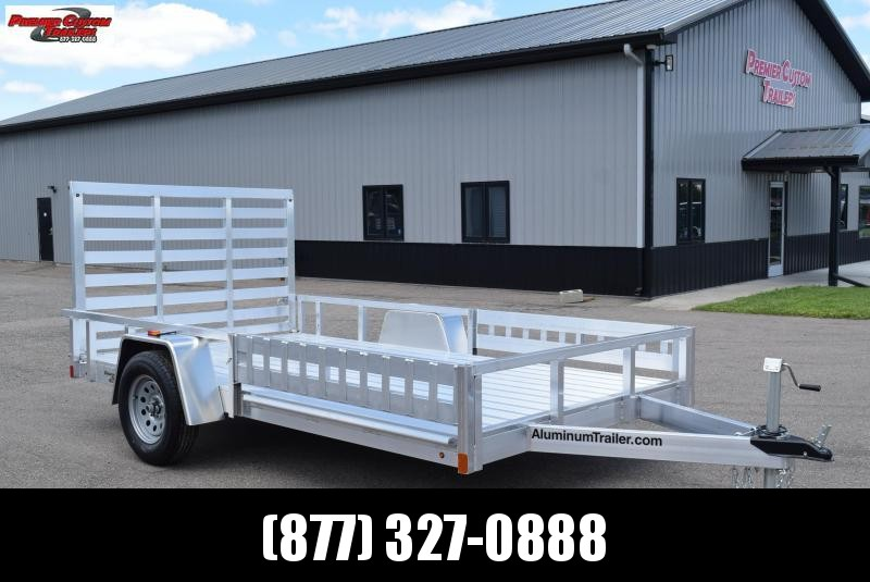 2019 ATC ALL ALUMINUM 7x12 UTILITY TRAILER w/ SIDE RAMPS