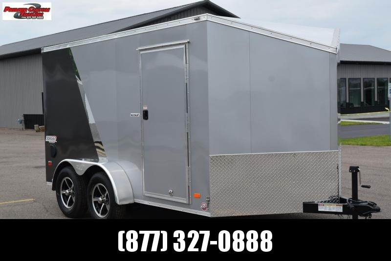 2019 BRAVO SCOUT 7x12 ENCLOSED MOTORCYCLE TRAILER