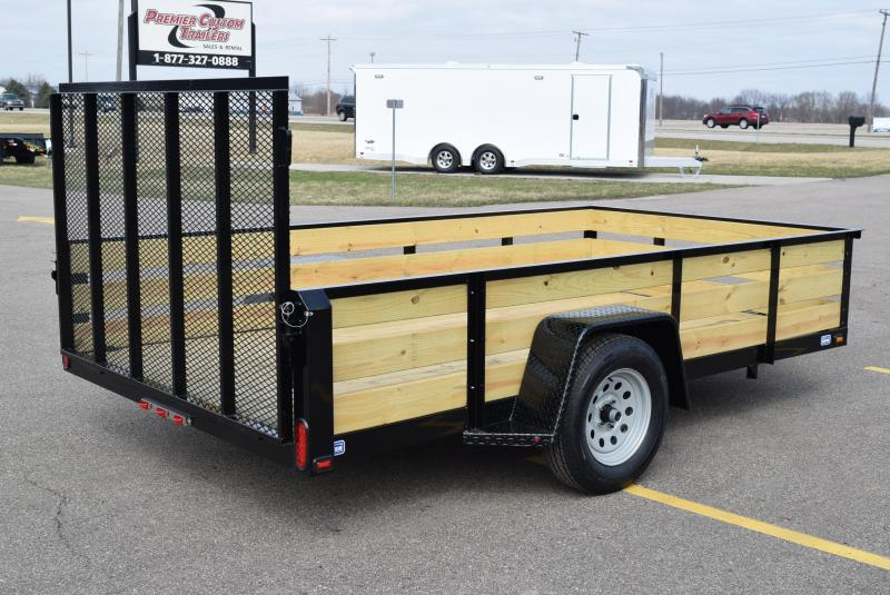 """2019 NATION 6'4""""x10 FIXED SIDE OPEN UTILITY TRAILER"""