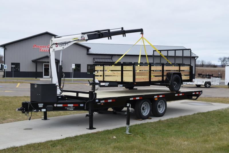 2019 NATION 20' ATL250 EQUIPMENT CRANE TRAILER | Tandem Axle