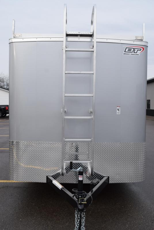 2019 BRAVO 7x16 SCOUT ENCLOSED CONTRACTOR TRAILER w/LADDER RACKS