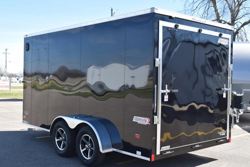2020 BRAVO SCOUT 7x14 ENCLOSED MOTORCYCLE TRAILER