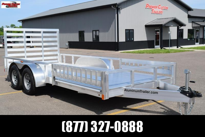 2019 ATC 7x16 ALL ALUMINUM UTILITY TRAILER w/ SIDE RAMPS