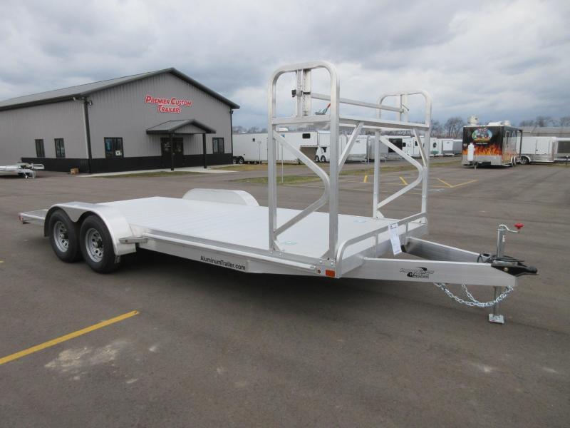 Aluminum Car Construction : Atc all aluminum car hauler w tire rack custom