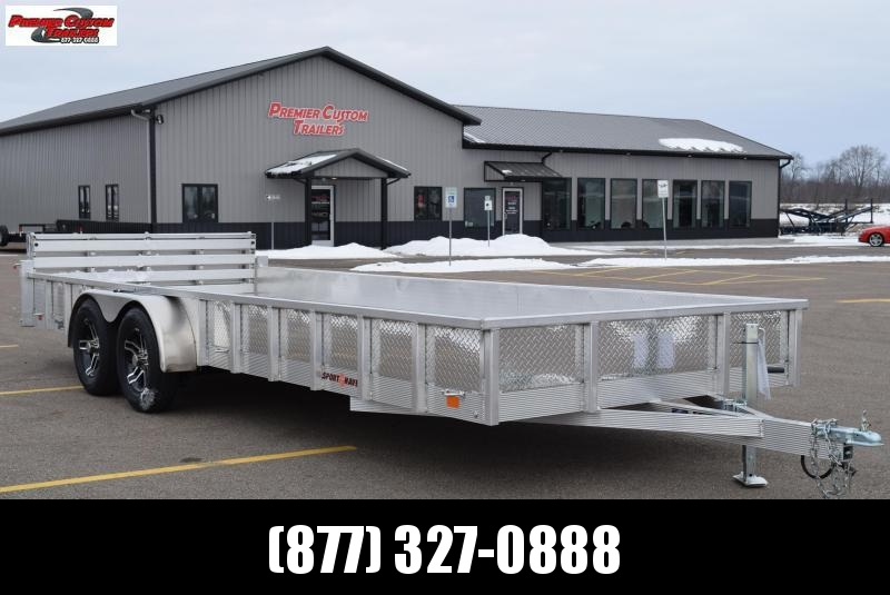 2019 SPORT HAVEN 7x20 DELUXE SERIES OPEN UTILITY TRAILER w/ SIDES
