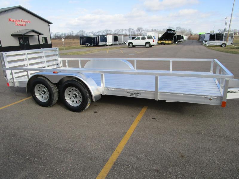 2018 atc 7x16 all aluminum utility trailer custom for Tandem flooring