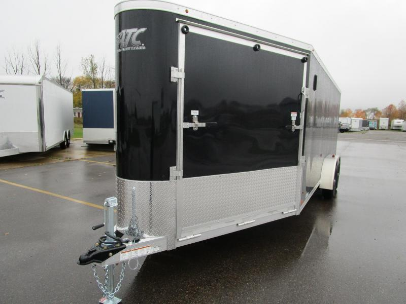 2019 RAVEN 24' ENCLOSED SNOWMOBILE/UTV TRAILER w/SNOW PACKAGE