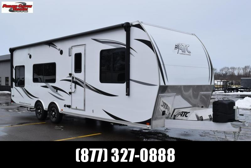 2019 ATC ALL ALUMINUM 8.5x28 TOY HAULER w/ FRONT BEDROOM