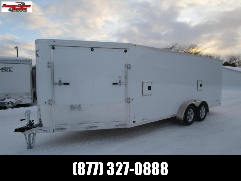 2018 RAVEN 24' ENCLOSED SNOWMOBILE/UTV TRAILER w/SNOW PACKAGE