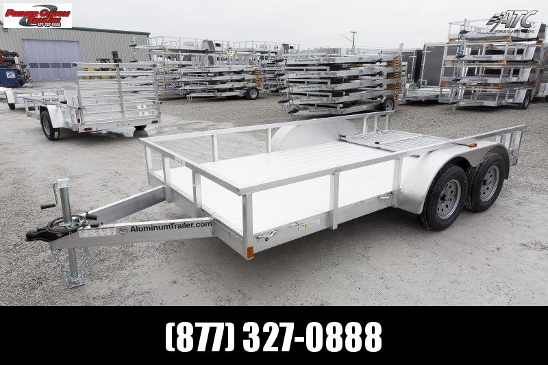 2019 ATC ALL ALUMINUM 7x16 TANDEM AXLE UTILITY TRAILER w/RAMP GATE in Ashburn, VA