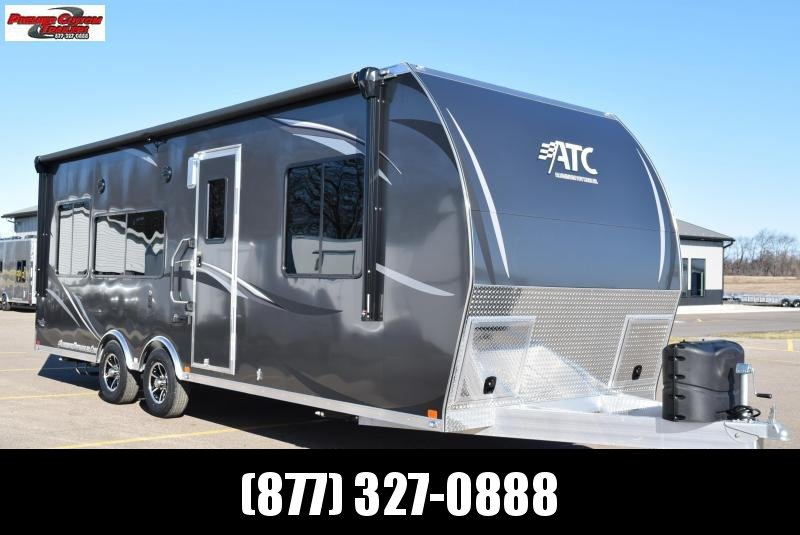 2019 ATC ALL ALUMINUM 8.5x25 TOY HAULER w/ FRONT BEDROOM