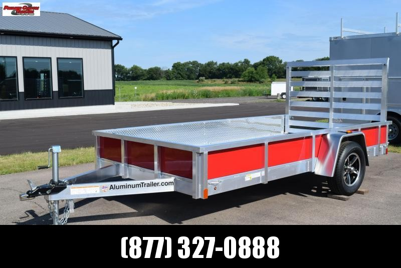 2019 ATC ALL ALUMINUM 6x12 UTILITY TRAILER w/ RED SIDE PANELS