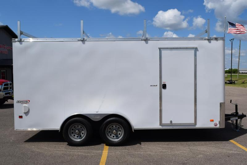2020 BRAVO 7x16 SCOUT ENCLOSED CONTRACTOR TRAILER