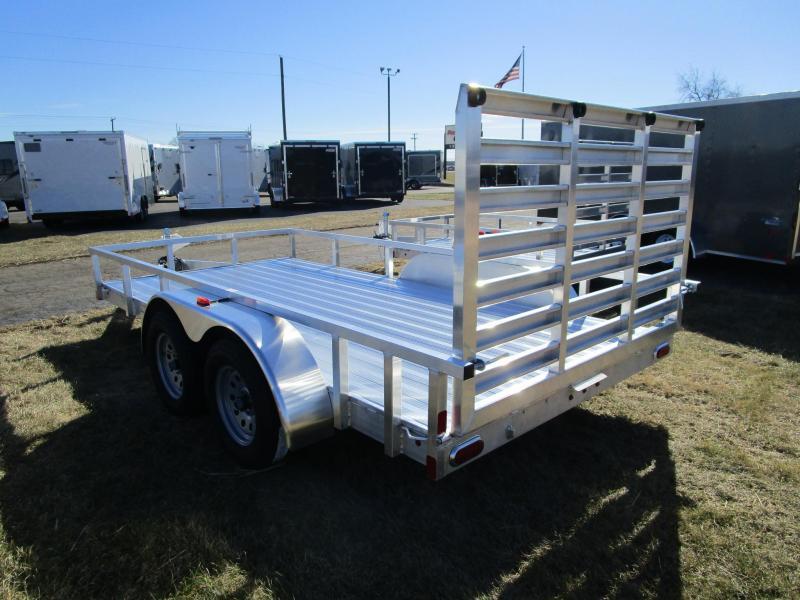 2018 Atc All Aluminum 7x14 Tandem Axle Utility Trailer W