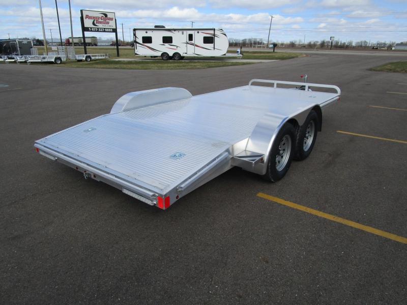 2018 atc 16 all aluminum ch x open car hauler custom enclosed and