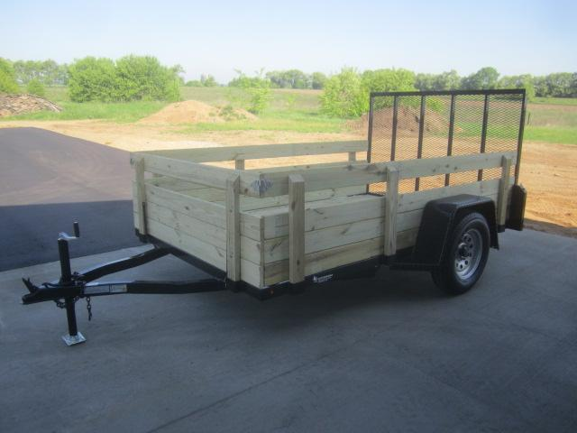 """2019 NATION 6'4""""x10' OPEN UTILITY TRAILER w/ REMOVABLE SIDES"""