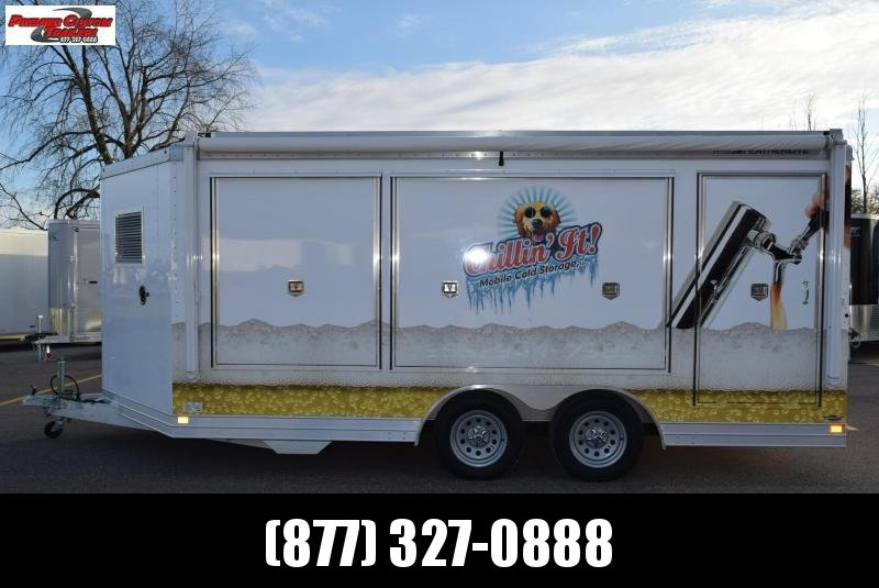 USED 2012 FEATHERLITE 8.5x16 SPECIALTY DRAFT TAILGATING TRAILER