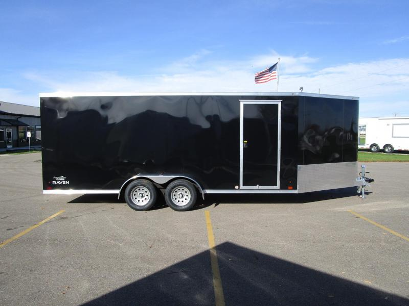 2018 RAVEN 24' ENCLOSED SNOWMOBILE TRAILER