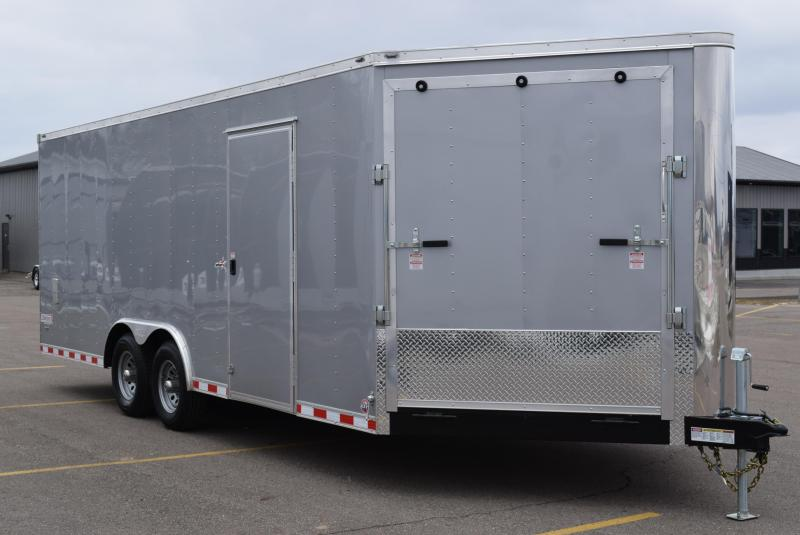 2019 BRAVO STAR 8.5x25 COMBO SNOWMOBILE/CAR HAULER
