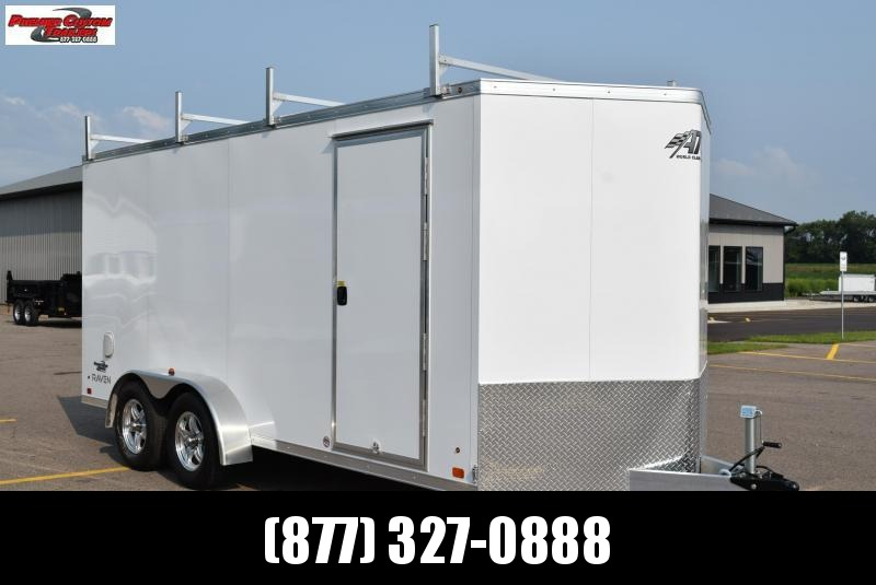 2019 ATC ALL ALUMINUM 7x16 CONTRACTOR TRAILER