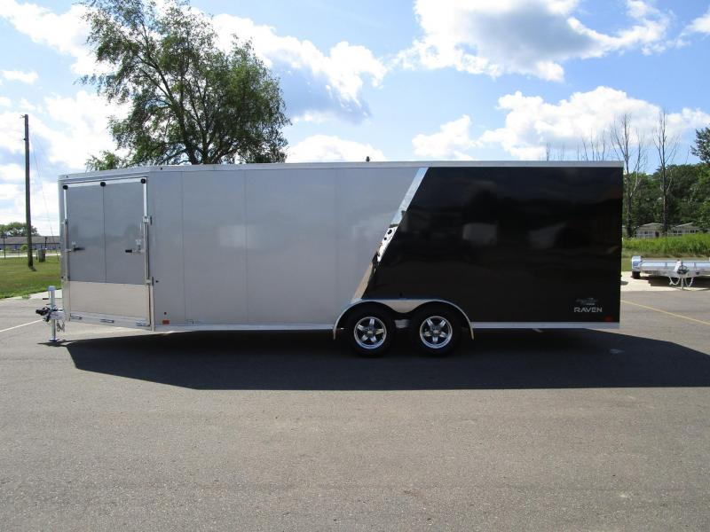 2018 RAVEN 26' ENCLOSED SNOWMOBILE TRAILER w/SNOW PACKAGE