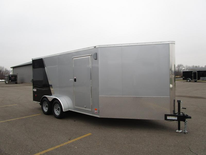 2019 BRAVO 7x14 SCOUT ENCLOSED MOTORCYCLE TRAILER w/ 5' WEDGE NOSE