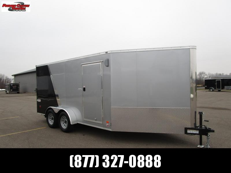 2018 BRAVO 7x14 SCOUT ENCLOSED MOTORCYCLE TRAILER w/ 5' WEDGE NOSE