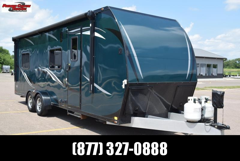 USED 2016 ATC ALL ALUMINUM 7x24 TOY HAULER