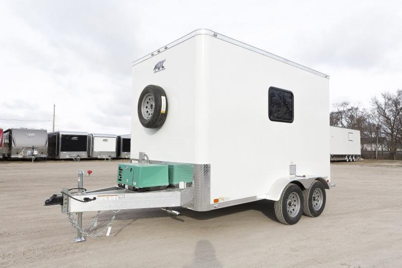 2019 7x12 ATC FIBER OPTIC SPLICING TRAILER PLUS PKG w/4.0k GENERATOR