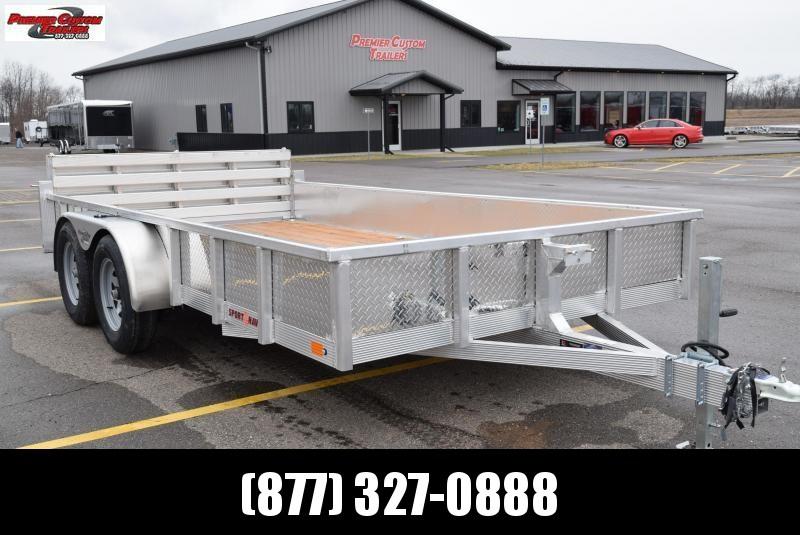 2019 SPORT HAVEN 7x14 OPEN UTILITY TRAILER w/ SIDES AND BI-FOLD GATE in Ashburn, VA