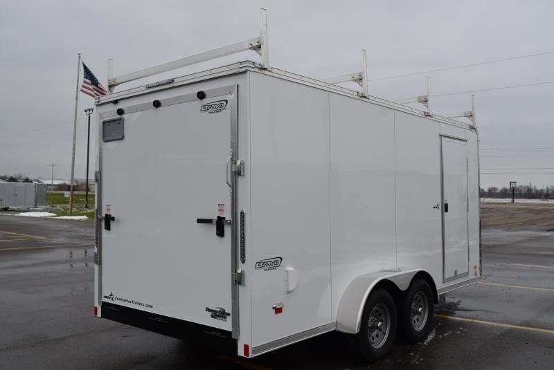 2019 BRAVO 7x16 STAR ENCLOSED CONTRACTOR TRAILER