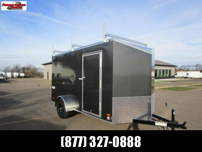2019 BRAVO 6x12 ENCLOSED CONTRACTOR TRAILER w/ LADDER RACKS