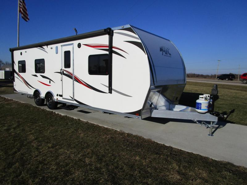 Galerry 2018 atc all aluminum 8 5x28 toy hauler w rear patio