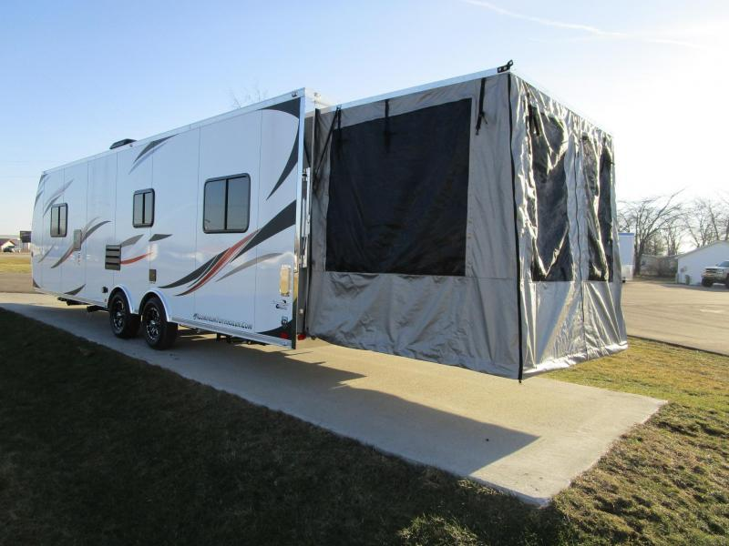 2018 ATC ALL ALUMINUM 8.5x28 TOY HAULER w/REAR PATIO
