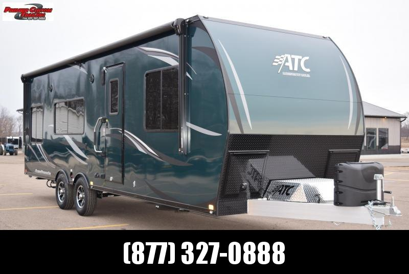 2019 ATC ALL ALUMINUM 8.5x28 TOY HAULER w/ FRONT BEDROOM