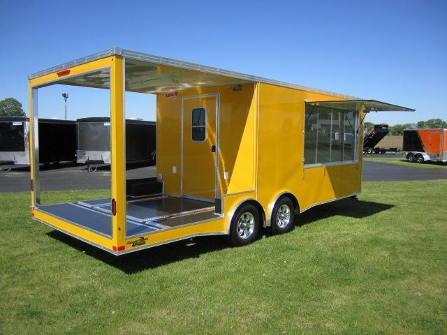 2018 8.5x16 REAR PORCH CONCESSION TRAILER