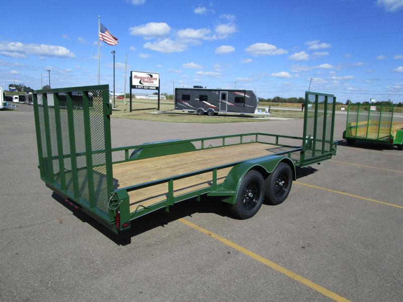 "2019 NATION 82""x18' OPEN LANDSCAPE TRAILER W/ SIDE RAMP GATE"
