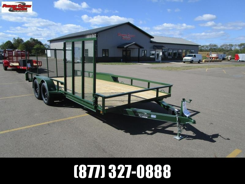 "2019 NATION 82""x18' OPEN LANDSCAPE TRAILER W/ SIDE RAMP GATE in Ashburn, VA"