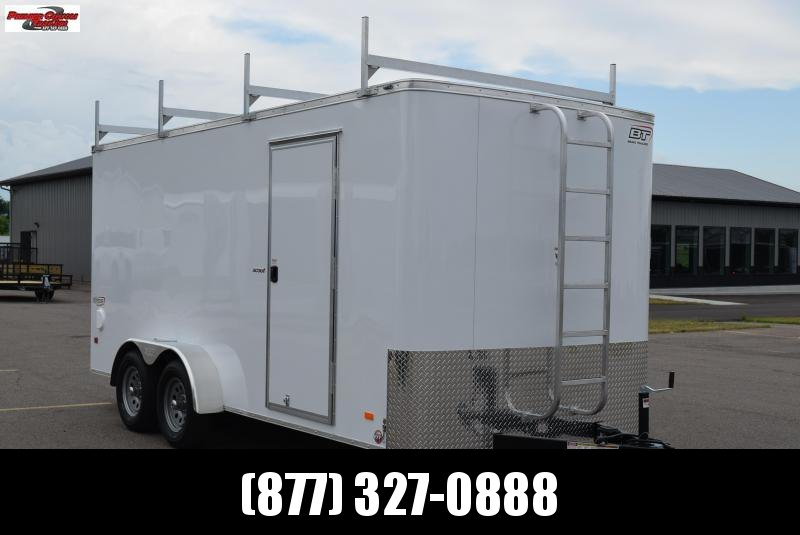 2019 BRAVO 7x16 ENCLOSED CONTRACTOR TRAILER w/LADDER RACKS