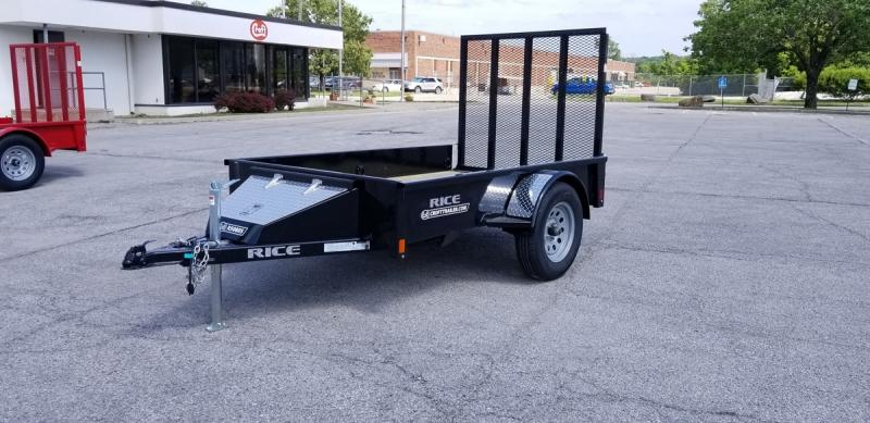2019 Rice 5'x8' Stealth Solid Side Utility Trailer