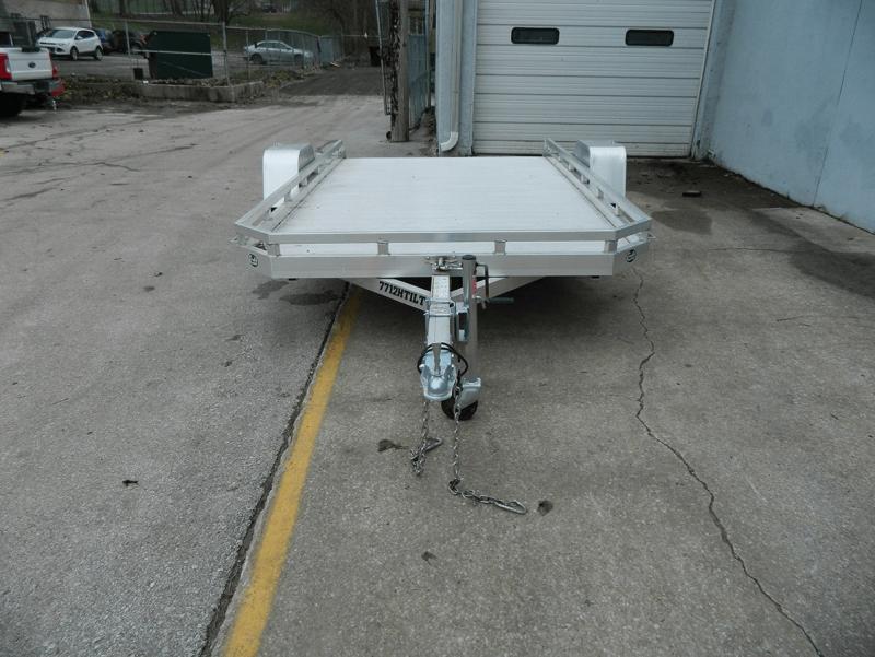 "2019 Aluma 77""x12' Aluminum Tilt Utility Trailer - 3.5k"