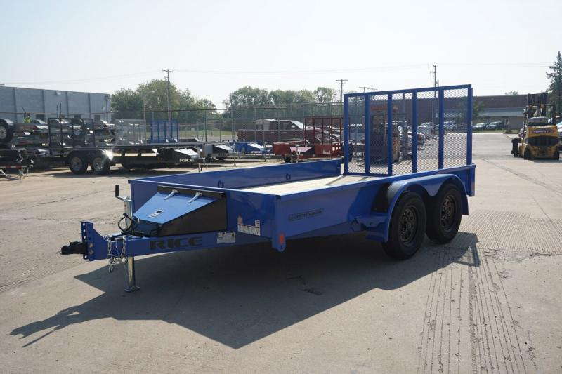 """Rice 82""""x12' Stealth Solid Side Utility Trailer"""