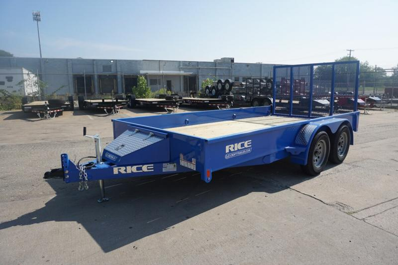 """Rice 82""""x14' Pipe Top Utility Trailer"""