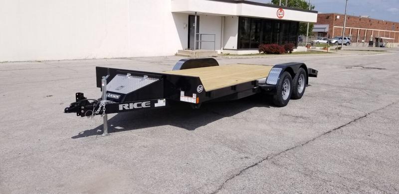 "2019 Rice 82""x18' Wood Deck Car Hauler"