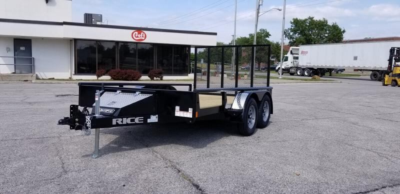 "2019 Rice 82""x12' Pipe Top Utility Trailer"