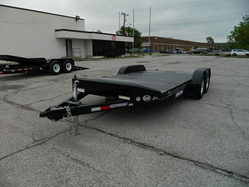 "2019 Sure-Trac 82""x18' Steel Deck Car Hauler - 7k"