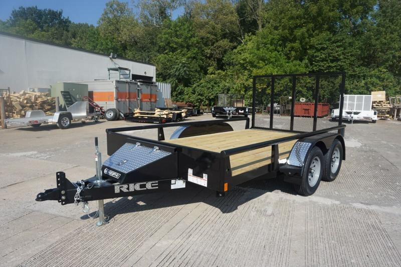 """Rice 82""""x12' Pipe Top Utility Trailer"""